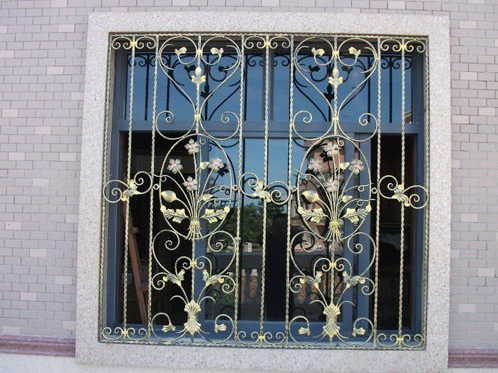 Wrought iron steel glass window metal glass window wrought for Window design 4 6