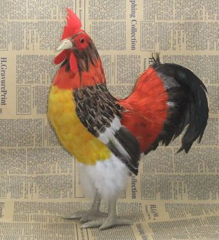big creative simulation cock toy lifelike  Rural chicken doll home decoration gift about 34cm