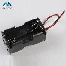 4 * AA 4xAA 6 В Батареи Держатель Box Батареи Дело Корпус Розетки с Жильный кабель Пластиковые