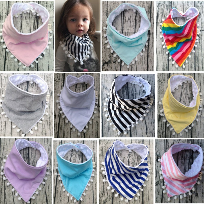 Newborn Baby Boy Girl Bibs Baby Scarf Burp Cloth Baby Girl Clothes Cotton Lace Bow Bib Cute Striped Rainbow Infant Saliva Towels genuine orangefox pure cotton striped scarf