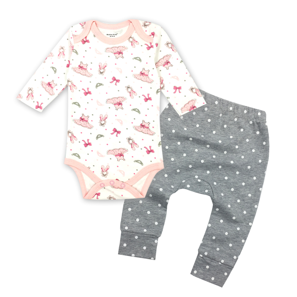 2018 tender babies 2pcs 1 lot suit baby girl clothing sets Boys Girls Long Sleeve Pants Outfits Set baby clothes set in Bodysuits from Mother Kids