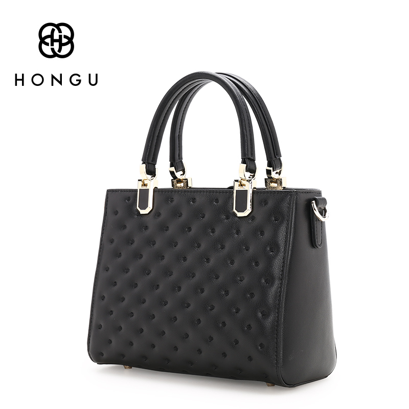 HONGU Famous Designer Cowhide Genuine Leather Bag Rhombus Oblique Square Package Women Handbag Shoulder Tote Girls Versatile Bag luxury genuine leather bag fashion brand designer women handbag cowhide leather shoulder composite bag casual totes