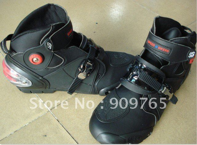 ФОТО Free Shipping Man Waterproof Boots Short Boot Guard Motorcycle Bike back protector racing ATV MX Black