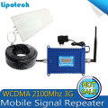 Best Price !  Smart Phone W-CDMA 2100 MHz 3G Mobile Phone Repeater 3G UMTS 70dB AGC WCDMA Signal Booster Amplifier Full set