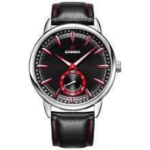 Marque de luxe montres hommes sport hommes montre multi-fonction de calendrier lumineux montre à quartz bracelet En Cuir CASIMA #8304