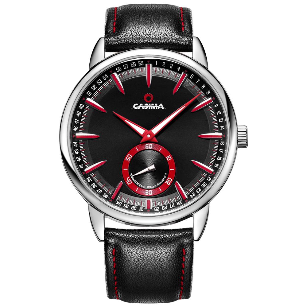 Prix pour Marque de luxe montres hommes sport hommes montre multi-fonction de calendrier lumineux montre à quartz bracelet En Cuir CASIMA #8304