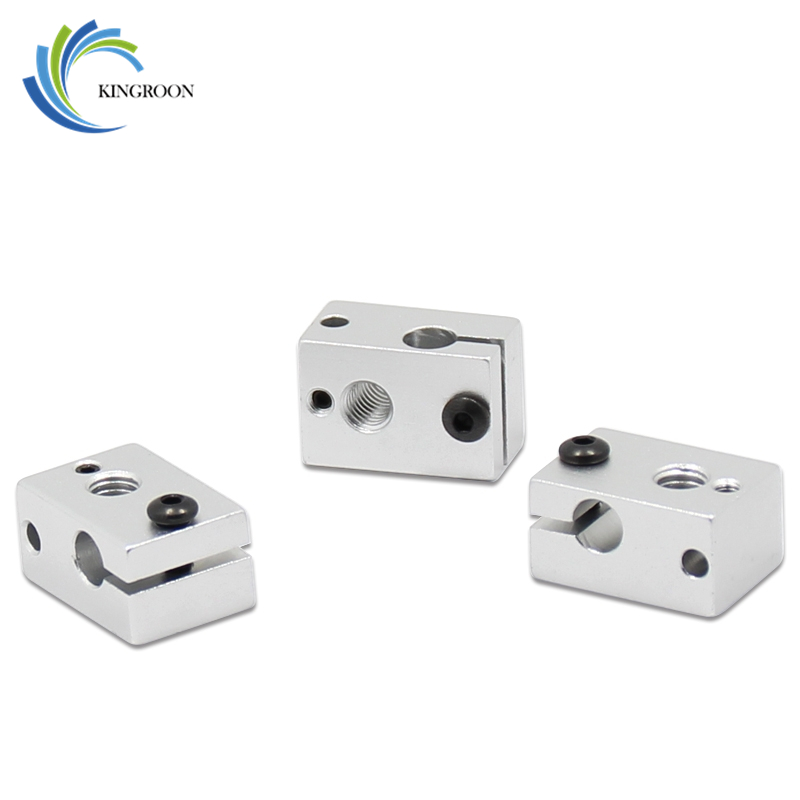 New Arrivals Heating Block V6 Hot End For V5 V6 1.75 3mm Filament Extruder J-head Heater 3D Printers Parts Aluminium Heated Part