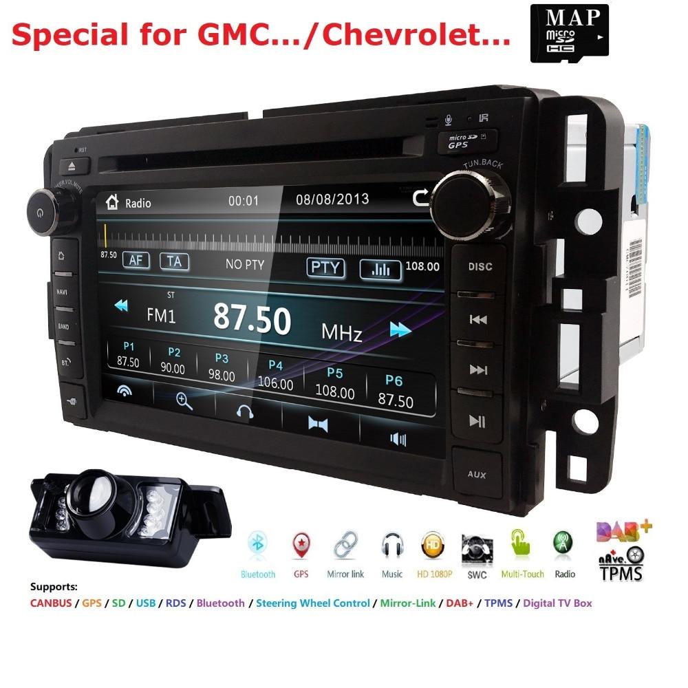 US $136 0 28% OFF|Car DVD GPS Stereo Radio Nav For GMC Yukon Sierra  Chevrolet Chevy Tahoe Suburban CANBUS SD,USB,RDS,BLUETOOTH MirrorLink  MAP+Cam-in