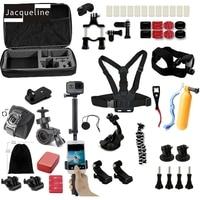 Jacqueline for Accessories Kit Selfie Three Way Monopod for Gopro hero 6 5 4 3+2 for SJCAM for Xiaomi yi for EKEN h9r