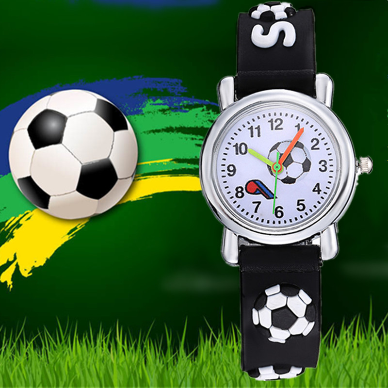Kids Watch Children Girls Boys Students Quartz Wristwatches New 3D Cartoon Fashion Silicone Football Saats Hot Orologio Uomo