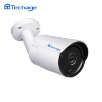 Techage H 265 Surveillance POE IP Camera 25FPS 4MP Waterproof Outdoor CCTV Camera With 6PCS ARRAY