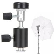 Hot Sale Type C 360 Degree Camera Flash Tripod Shoe Adapter Umbrella Holder Flash Umbrella Stand Bracket Photo Studio Acc