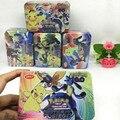2017 Nuevo 42 Unids/caja Pikaballs Tarjetas Juego Anime Inglés Tarjeta de Juguete Para Niños de Regalo de Cumpleaños Divertido Juguete Colección