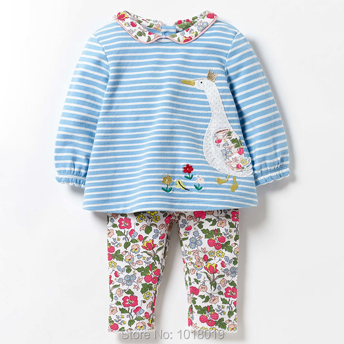 New 2018 Brand Top Quality 100% Cotton Baby Girls Clothing Toddler Kids Clothes Set Long Sleeve Clothing Sets Baby Girls Outwear high quality fashion girls clothing sets lady style sweatshirt shorts 2pcs autumn winter baby girls clothes set 2015 brand new