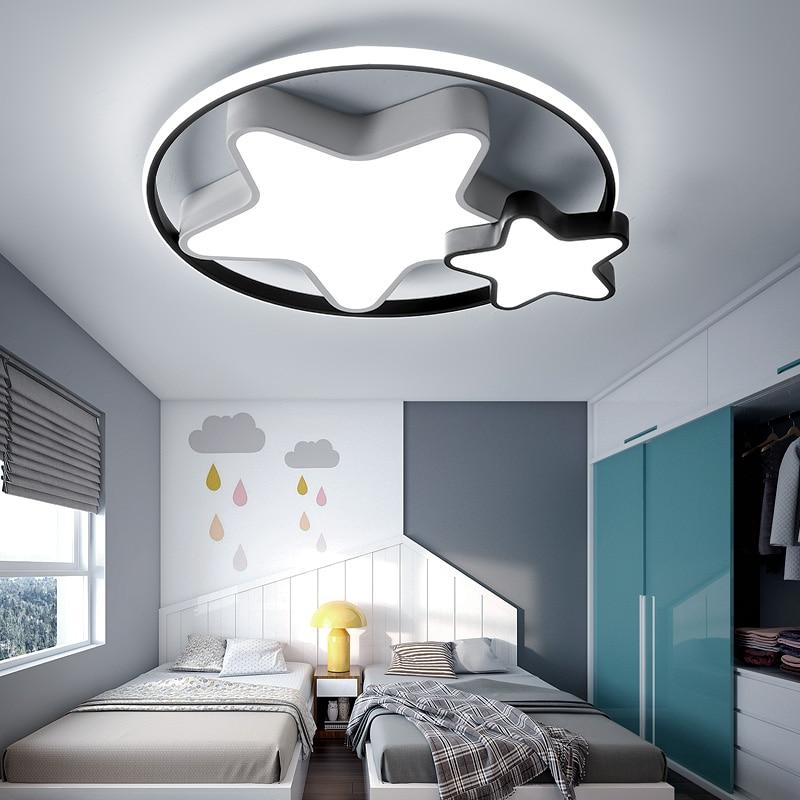 Modern led chandeliers light round star lights for bedroom kids baby  children room home lighting boys girls chandelier lamp