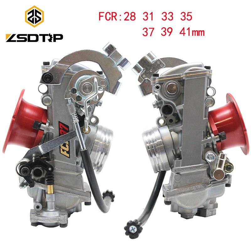 ZSDTRP FCR28 31 33 35 37 39 41mm Carburador Keihin FCR FCR39 para CRF450/650 Motores De Corrida KTM Husqvarna450 FS450 Bom Poder