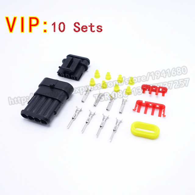 10 Sets 4 Pin AMP Connector Male Female Housing Auto Wire Harness Connector AMP 282088 1_640x640 10 sets 4 pin amp connector male female housing auto wire harness Electrical Connectors at soozxer.org