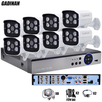 GADINAN Full HD 8CH AHD Outdoor CCTV System Kit 8 Channel AHD 3MP 2048P 4MP 2560P