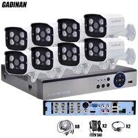 GADINAN Full HD 8CH AHD Outdoor CCTV System Kit 8 Channel AHD 3MP 2048P 4MP 2560P