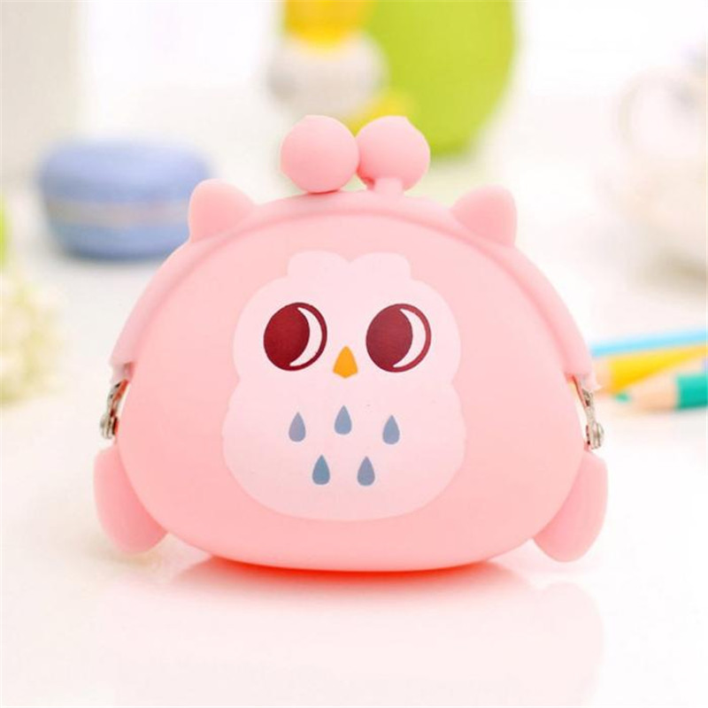 New Coin Purses Women Purse for Coins Children's Wallet Girl's Cute Cartoon Owl Silicone Jelly Keys Pouch Carteira DropShipping new brand mini cute coin purses cheap casual pu leather purse for coins children wallet girls small pouch women bags cb0033
