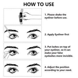 Image 5 - 4pairs Magnet Eyelash Magnetic Liquid Eyeliner& Magnetic False Eyelashes & Tweezer Set Waterproof Long Lasting Eyelash Extension