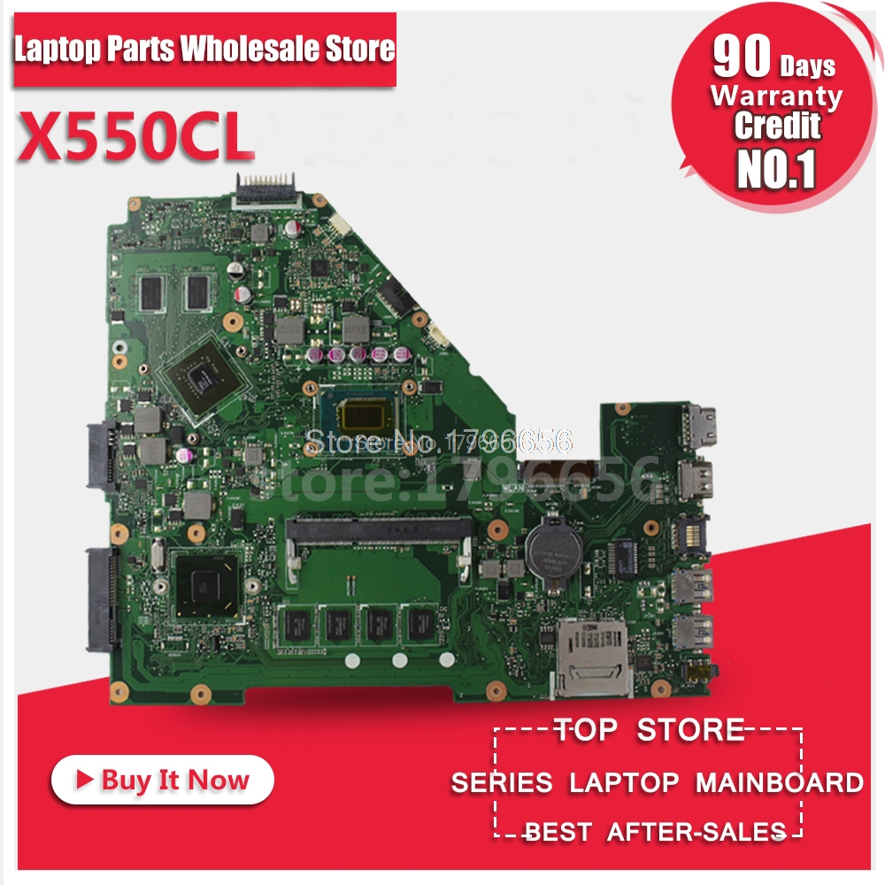For Asus X550 X550V F552CL A550V X552C K550C laptop motherboard X550CL REV21 I5 CPU  N14M-GE-S-A2 GT710M2GB fully test