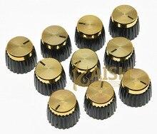 20x Guitarras AMP Amplificadores perillas negro con tapa de oro empuje en perillas encaja Marshall