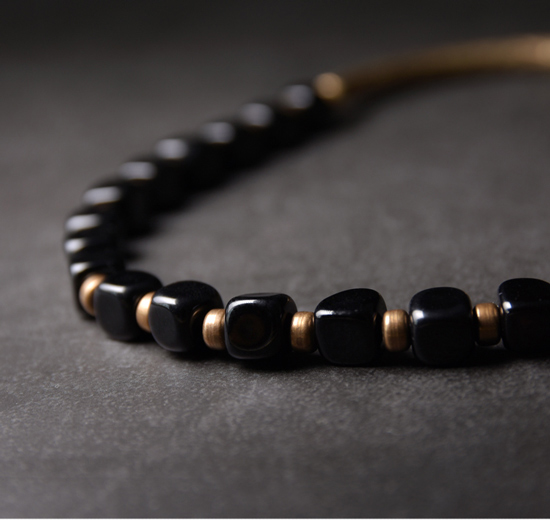 2019-New-Cubic-Black-Obsidian-Multi-row-Bracelet-With-Antique-Finish-Copper-Accessories-Men-Women-Couple-Jewelry-Punk-Street (17)