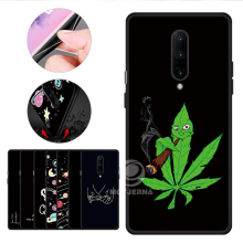 For OnePlus One Plus 7 Pro 7Pro Matte Silicone Phone Cover Shell For OnePlus7Pro TPU Pattern Black Case Unique Color Graffiti