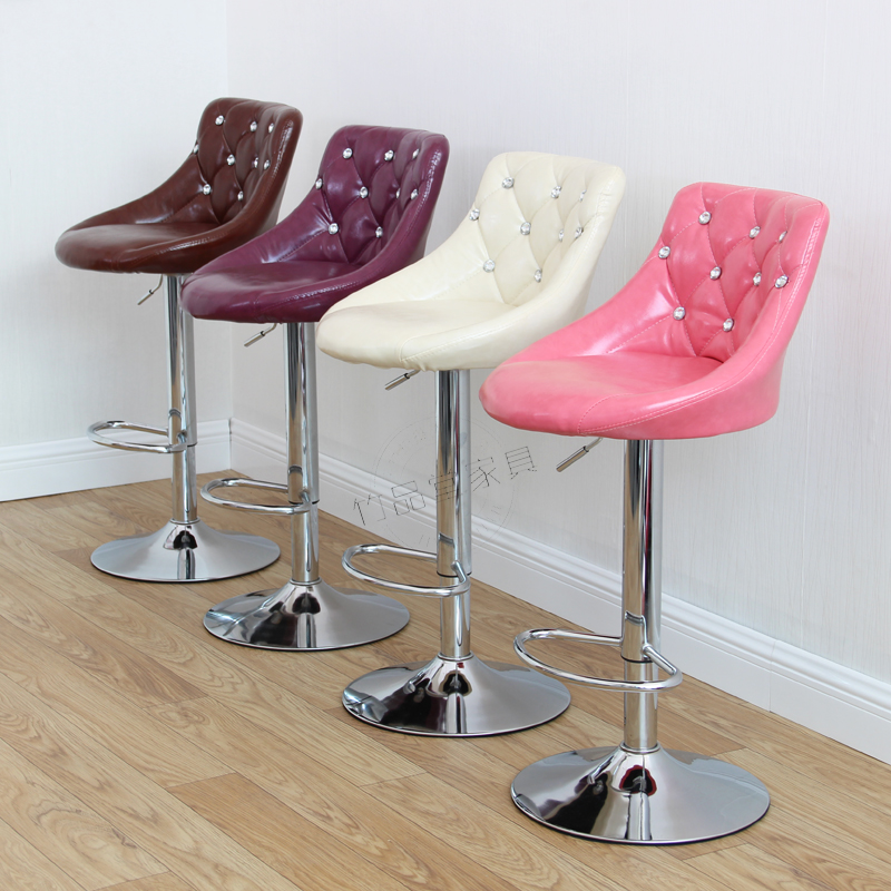 United European Bar Stool Chair Lift Swivel Chair Bar Stool Beauty Dressing Backrest Dining Chair Makeup Artist Chair Bar Furniture Bar Chairs
