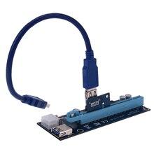 Фирменная Новинка USB 3.0 pci-e экспресс 1 х Extender Riser совета адаптер карт sata 15 pin 6 pin Мощность кабель оптовая продажа