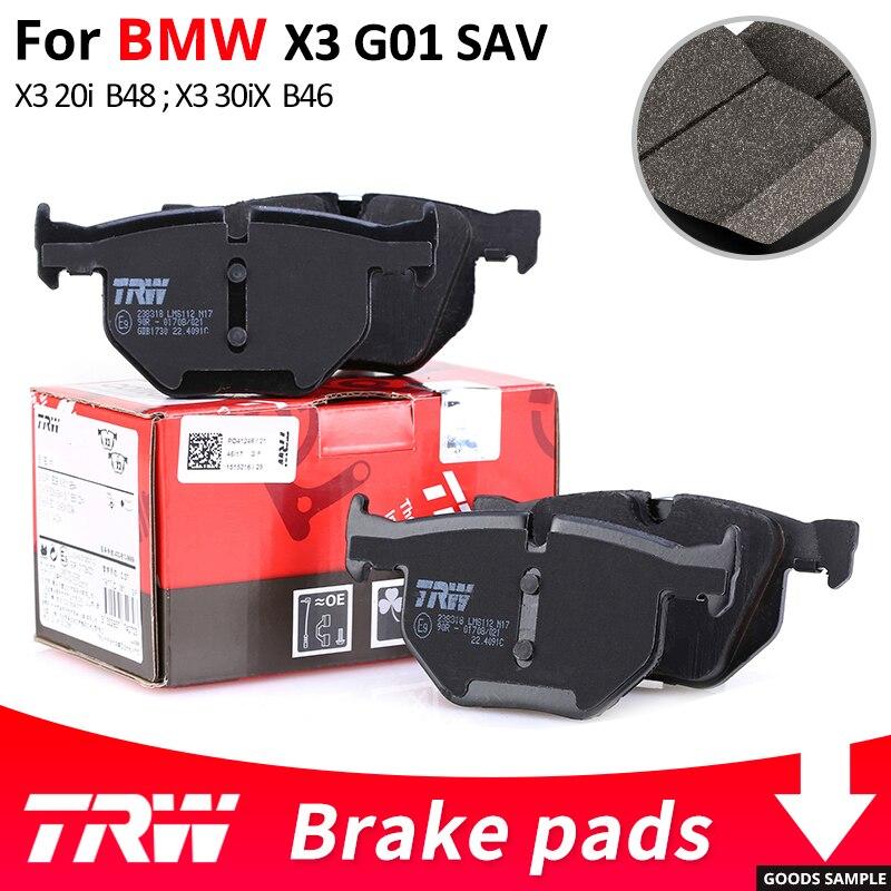 4 pièces/ensemble TRW avant/arrière plaquettes de frein de voiture/pièce de frein pour BMW X3G01 SAV X3 20i X3 20iX X3 30iX