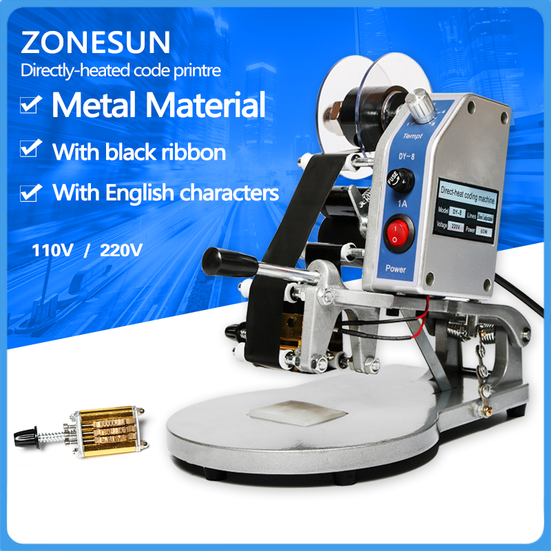 ФОТО ZONESUN semi-automatic By Head Code Printer