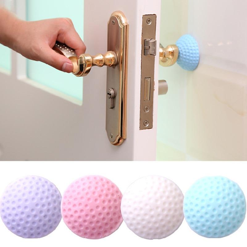 12 Pcs Door Stop Wall Protector Door Handle Bumper Guard Stopper Rubber Stop Silicon Wall Protectors Self Adhesive Door Stop Rubber Support Pads White, Purple, Pink