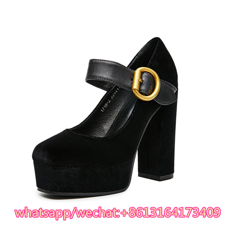 Pic Heeks 39 As Kqaoqao Sandales Partie Femme Sexy Cm Pompes Troupeau Boucles Épais 12 Zapatos forme Haute Robe Chaussures Pic Stiletto Mujer as Plate Femmes fnqABwf4R