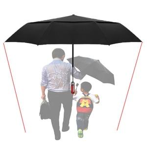 Image 4 - LIKE RAIN  140cm Große Männer Business Automatische Regenschirm Regen Frauen Starke Winddicht Doppel Schicht Folding Sonnenschutz Golf Regenschirm UBY30