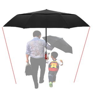 Image 4 - LIKE RAIN 140cm Large Men Business Automatic Umbrella Rain Women Strong Windproof Double Layer Folding Sun Golf Umbrella UBY30