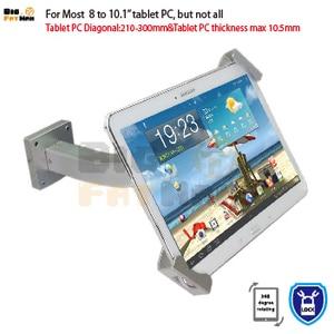 Image 3 - Montaggio a Parete Universale Tablet Pc Anti Furto Supporto Dellesposizione di Sicurezza Tablet Del Basamento per 7 10 Pollici Ipad Samsung asus Acer Huawe