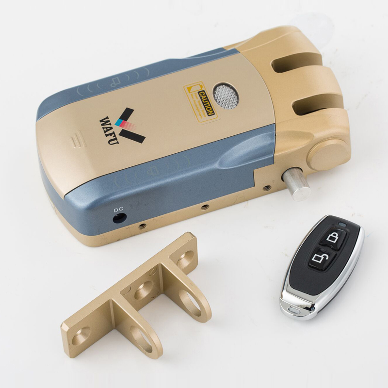 Wafu 010 Wireless Electronic Door Lock Keyless Invisible Intelligent Lock With Touch Locked Unlock Button 4 Wafu 010 Wireless Electronic Door Lock Keyless Invisible Intelligent Lock With Touch Locked&Unlock Button 4 Remote Control Keys
