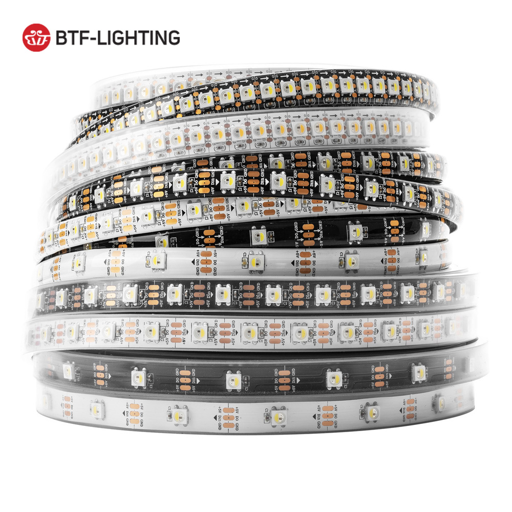 1m/4m/5m SK6812 led strip(similar ws2812)30/60/144leds/m,RGBW+NW/CW/WW,IP30/65/67,5050SMD built-in SK6812,4in 1 addressable,DC5V