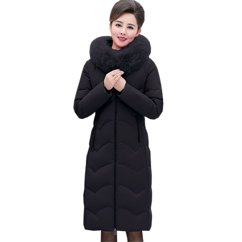 Winter Long Thicken   Down   Jackets Female Fashion Big Real Fur Collar Hooded Slim   Down     Coat   Women White Duck   Down     Coats   FP1797