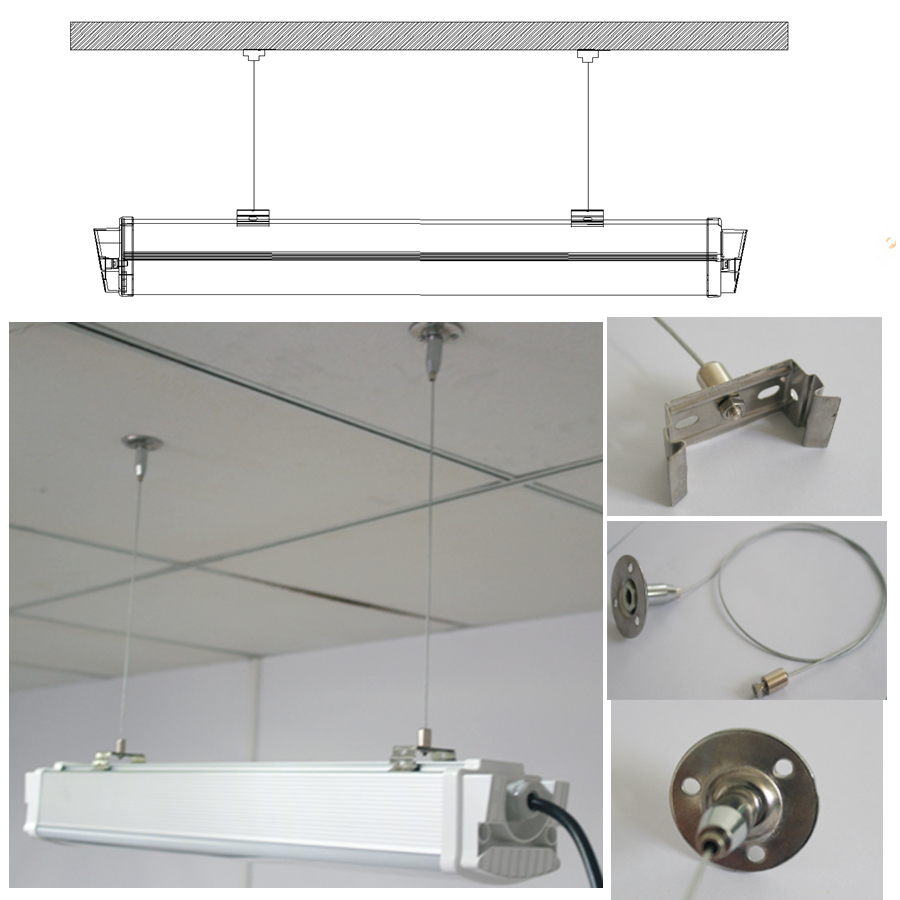 UL TUL CE IP65 4FT 40W Led Tri-Proof Light 120Lm/W Tube Light Warehouse Factory Industrial Lighting Lamp