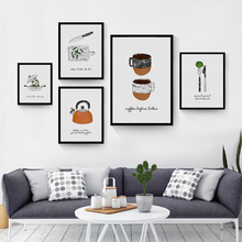 kitchen wall poster modern restaurant simple tableware picture print art decor mural painting HD2313