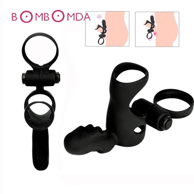 Sex Shops Vibrating pene Ring Trainer juguetes sexuales para pareja hombres pareja para hombre masturbación adultos sexo productos retraso eyaculación pene anillos 8b8cbb