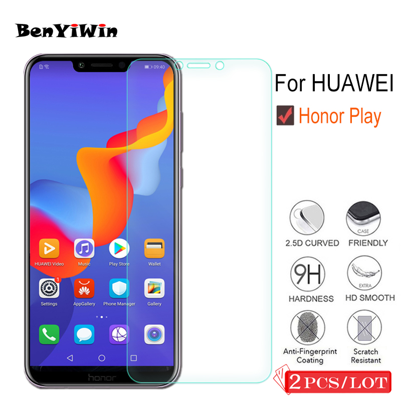 YINZHI Screen Protector Film 50 PCS 0.26mm 9H 2.5D Tempered Glass Film for Motorola Moto E5 Play Clear