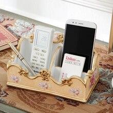 Fashion decoration storage box desktop remote control cosmetic business card finishing decorations