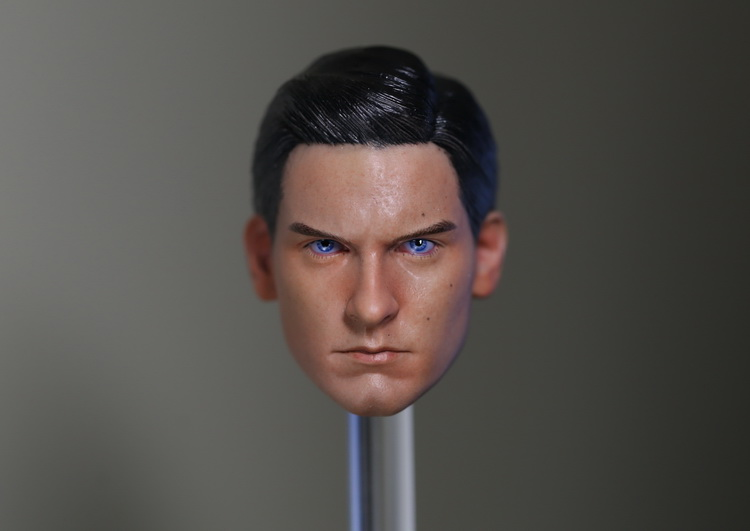 1:6 scale male Figure accessories Tobey Maguire Spider-Man Peter Parker head shape carved for 12 Action figure doll 1 6 scale figure doll head shape for 12 action figure doll accessories iron man 2 whiplash mickey rourke male head carved