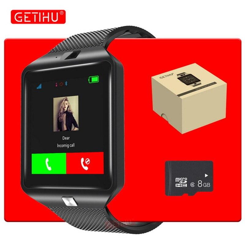 GETIHU Bluetooth DZ09 Smartwatch Sport SIM Digitalkamera Handgelenk Telefon Smart Uhr Männer Für Apple Android Wach Tragbare Geräte