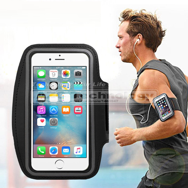 best website 6552a 10586 US $2.69 |Fashion Sports Running Armband Case for iPhone 7 5S / For iPhone6  6S 6 Plus Belt Wrist Strap Gym Arm Band Cover Sport Case-in Armbands from  ...