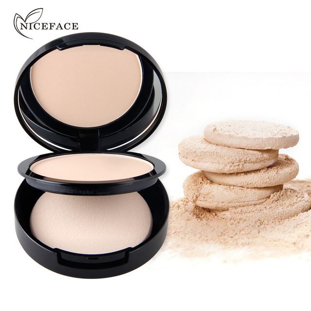 New NICEFACE Makeup Pores Cover Hide Blemish Face Pressed Powder Oil-control Lasting Base Concealer Powder Cosmetics 1